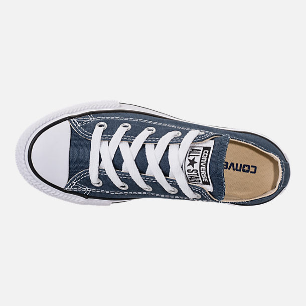 Top view of Boys' Little Kids' Converse Chuck Taylor Ox Casual Shoes in Navy