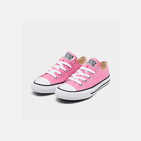 Three Quarter view of Converse Preschool Chuck Taylor in Pink
