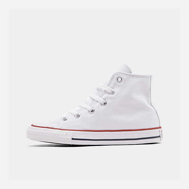 Right view of Boys' Little Kids' Converse Chuck Taylor Hi Casual Shoes in White