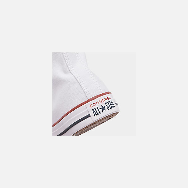 Front view of Boys' Little Kids' Converse Chuck Taylor Hi Casual Shoes in White