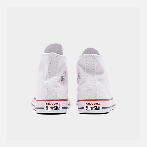 Left view of Boys' Little Kids' Converse Chuck Taylor Hi Casual Shoes in White