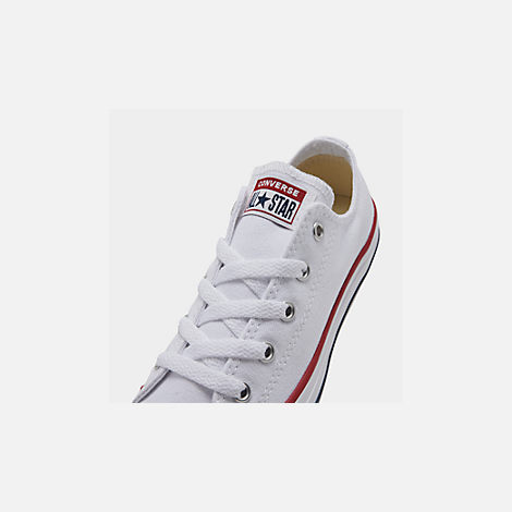 Front view of Boys' Little Kids' Converse Chuck Taylor Low Top Casual Shoes in White