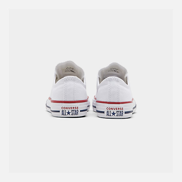 Left view of Boys' Little Kids' Converse Chuck Taylor Low Top Casual Shoes in White