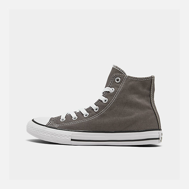 Right view of Boys' Little Kids' Converse Chuck Taylor Hi Casual Shoes in Charcoal