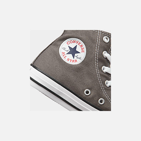 Front view of Boys' Little Kids' Converse Chuck Taylor Hi Casual Shoes in Charcoal
