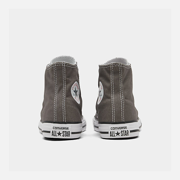 Left view of Boys' Little Kids' Converse Chuck Taylor Hi Casual Shoes in Charcoal