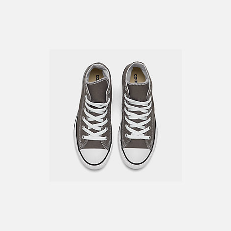 Back view of Boys' Little Kids' Converse Chuck Taylor Hi Casual Shoes in Charcoal