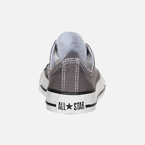 Back view of Boys' Little Kids' Converse Chuck Taylor Low Top Casual Shoes in Grey/White