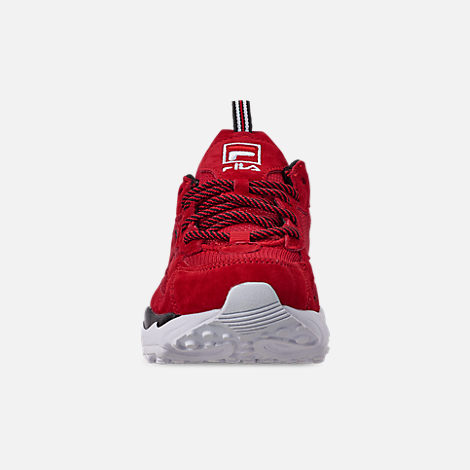 Front view of Big Kids' Fila Ray Tracer Casual Shoes in Red/White/Black