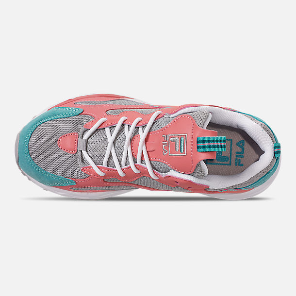 Top view of Big Kids' Fila Ray Tracer Casual Shoes in Vapor Blue/Strawberry Ice/Marine Blue