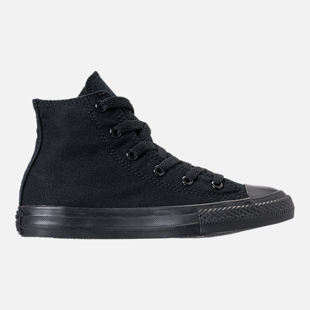 Right view of Boys' Little Kids' Converse Chuck Taylor High Casual Shoes in Black Mono