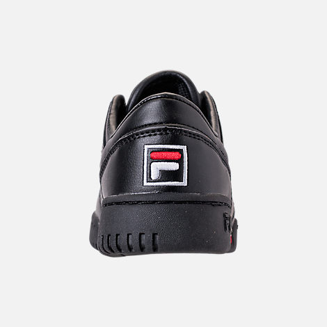 Back view of Boys' Big Kids' Fila Original Fitness Casual Shoes in Black/White/Red