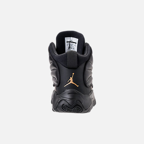 Back view of Boys' Big Kids' Air Jordan Pro Strong Basketball Shoes in Black/Black