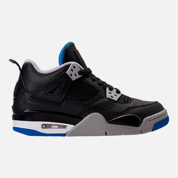 Right view of Kids' Grade School Air Jordan Retro 4 Basketball Shoes in  Black/