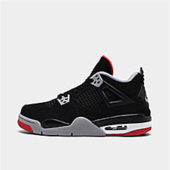 2b446c47b7dfc3 Big Kids  Air Jordan Retro 4 Basketball Shoes