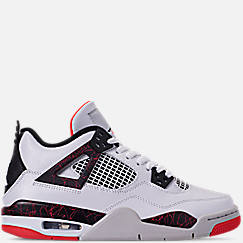 ebdc82a98bbc Big Kids  Air Jordan Retro 4 Basketball Shoes