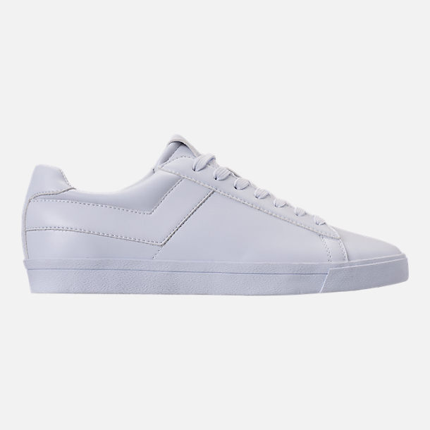 Right view of Men's Pony Topstar Casual Shoes in Triple White