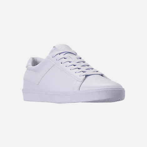 Three Quarter view of Men's Pony Topstar Casual Shoes in Triple White