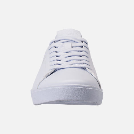 Front view of Men's Pony Topstar Casual Shoes in Triple White