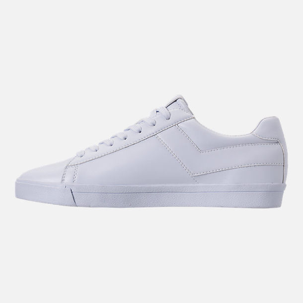 Left view of Men's Pony Topstar Casual Shoes in Triple White