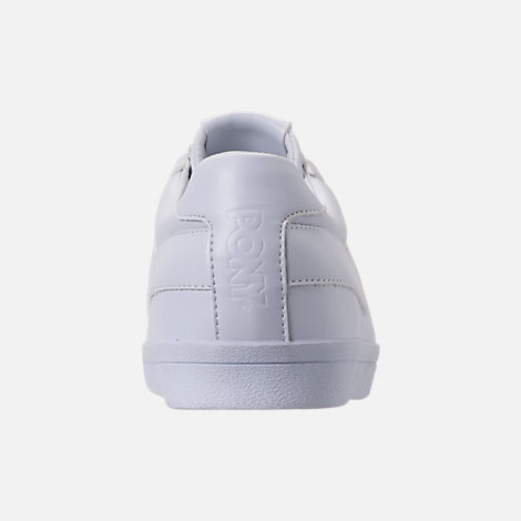 Back view of Men's Pony Topstar Casual Shoes in Triple White