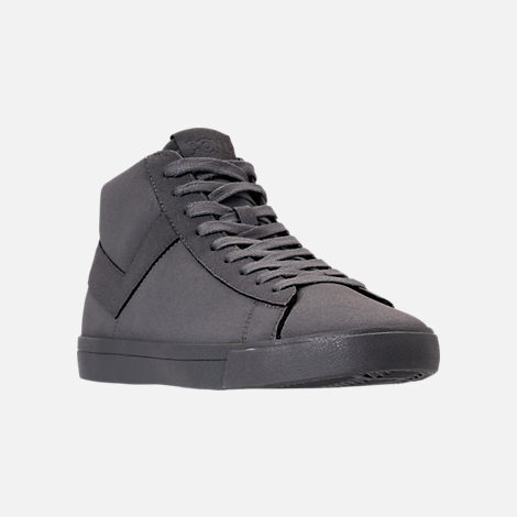 Three Quarter view of Men's Pony Topstar Chromatic Suede High Casual Shoes in Grey