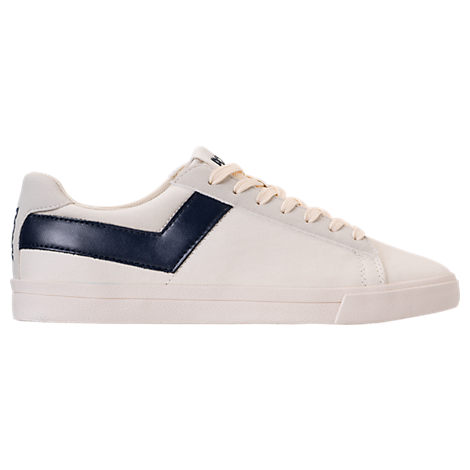 MEN'S PONY TOPSTAR CANVAS CASUAL SHOES, WHITE