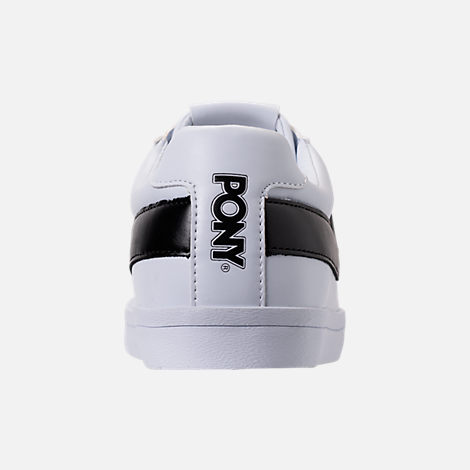 Back view of Men's Pony Topstar Low Casual Shoes in White/Black