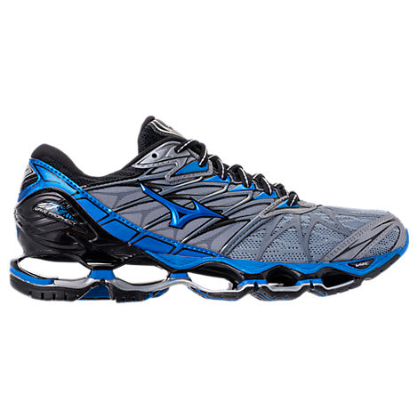 MIZUNO Men'S Wave Prophecy 7 Running Sneakers From Finish Line in Grey/Blue