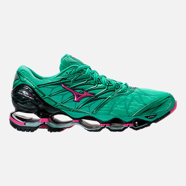 Right view of Women's Mizuno Wave Prophecy 7 Running Shoes in Billard/Pacific