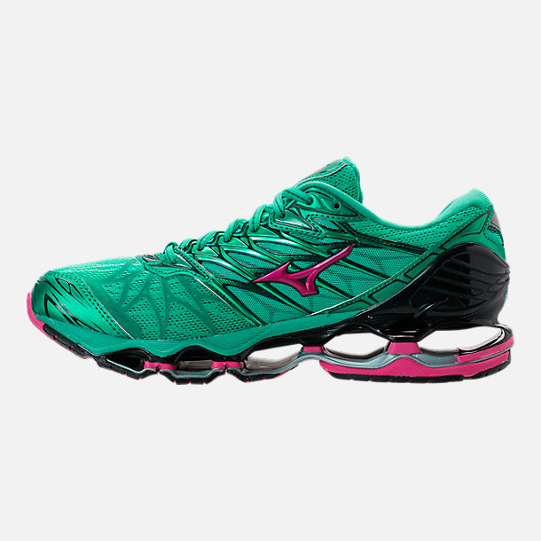 Left view of Women's Mizuno Wave Prophecy 7 Running Shoes in Billard/Pacific