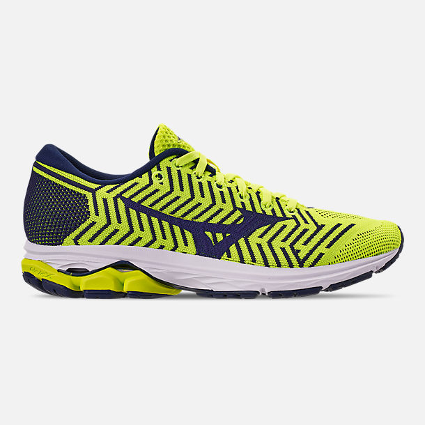 Right view of Men's Mizuno WaveKnit R2 Running Shoes in Flash/Maize