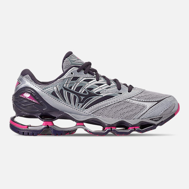 Right view of Women's Mizuno Wave Prophecy 8 Running Shoes in Quarry/Graphite