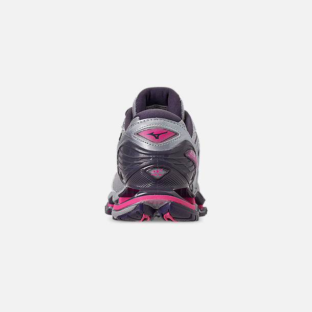 Back view of Women's Mizuno Wave Prophecy 8 Running Shoes in Quarry/Graphite