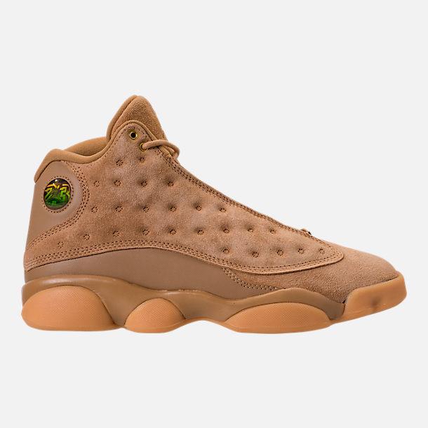 2341552588b6b Right view of Men s Air Jordan Retro 13 Basketball Shoes in Atmoshphere  Grey Black