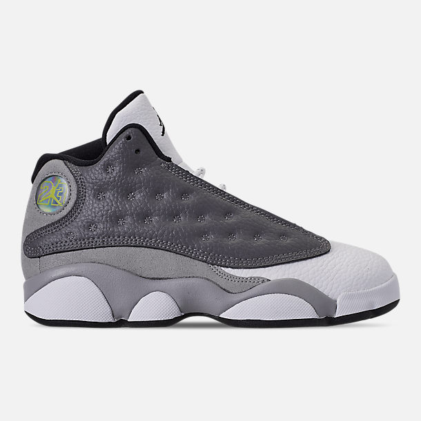 37fbe7c4 Right view of Little Kids' Air Jordan Retro 13 Basketball Shoes in  Atmosphere Grey/