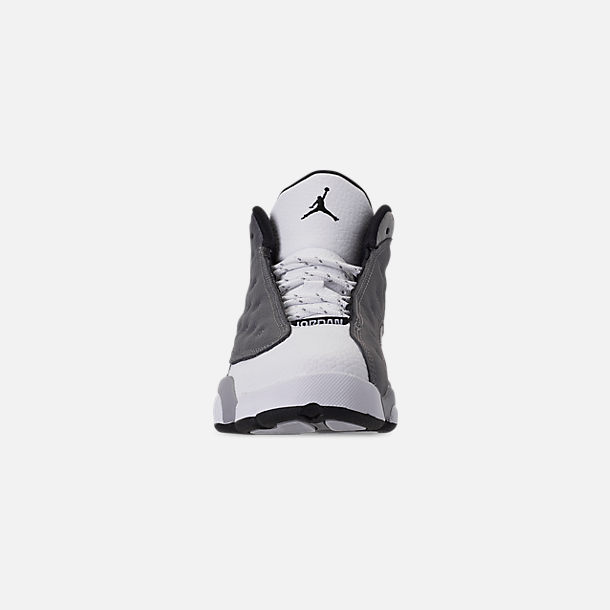 f9e5d4a661175d Front view of Little Kids  Air Jordan Retro 13 Basketball Shoes in Atmosphere  Grey