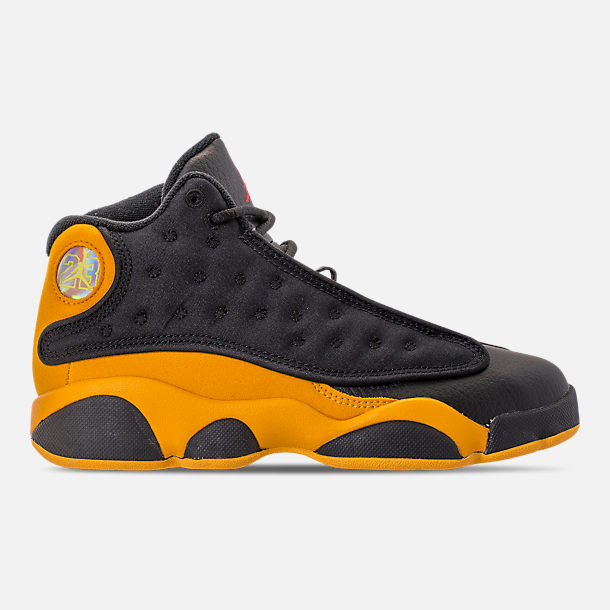 4320c66c602624 Right view of Little Kids  Air Jordan Retro 13 Basketball Shoes in  Black University