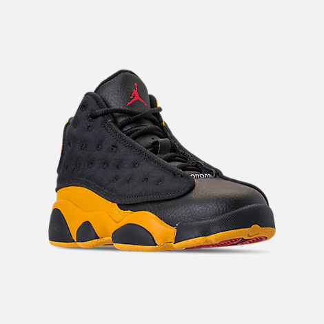 wholesale dealer 0716f 1644a ... ebay three quarter view of little kids air jordan retro 13 basketball  shoes in black 5665f