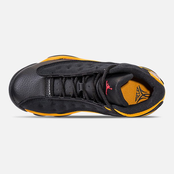 fd9ca12831b4 Top view of Little Kids  Air Jordan Retro 13 Basketball Shoes in  Black University