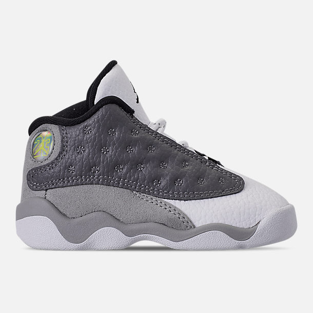8dfef79306f31c Right view of Kids  Toddler Air Jordan Retro 13 Basketball Shoes in  Atmosphere Grey