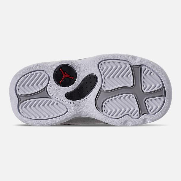 best website 98314 59deb Bottom view of Kids  Toddler Air Jordan Retro 13 Basketball Shoes in  Atmosphere Grey