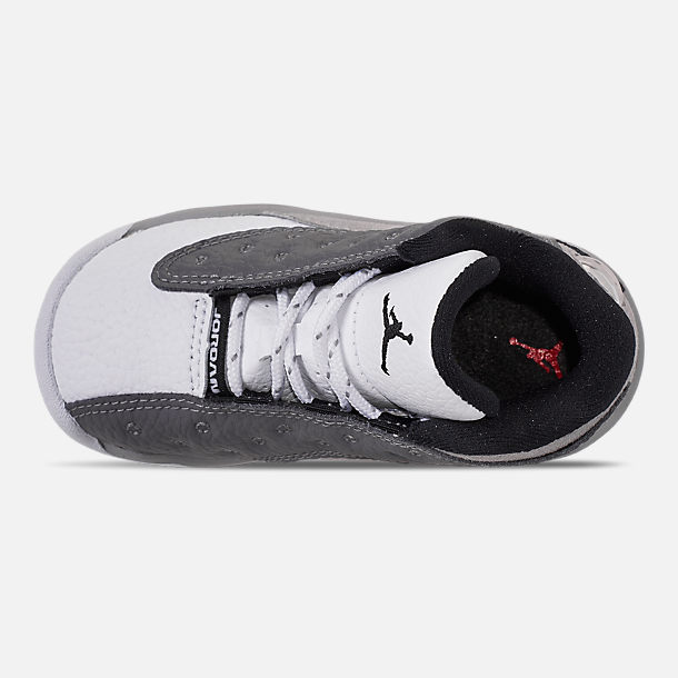 a32bee1106876d Top view of Kids  Toddler Air Jordan Retro 13 Basketball Shoes in Atmosphere  Grey