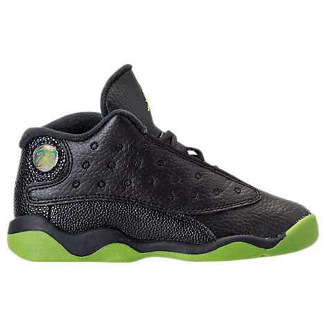 Nike  BOYS' TODDLER AIR JORDAN RETRO 13 BASKETBALL SHOES, BLACK