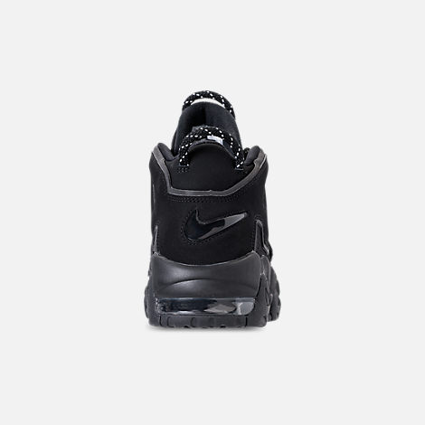 Back view of Men's Nike Air More Uptempo '96 Basketball Shoes in Black/Reflective