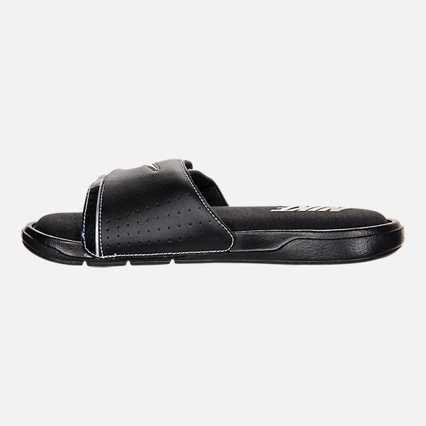 155c58135f5 Left view of Men s Nike Comfort Slide 2 Sandals in Black Metallic Silver  White