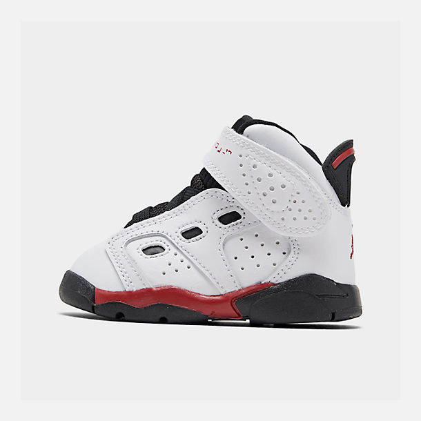 Right view of Boys' Toddler Jordan 6-17-23 Basketball Shoes in White/Gym Red/Black