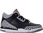 Boys' Preschool Jordan Retro 3 Basketball Shoes