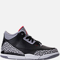 Kids' Preschool Jordan Retro 3 Basketball Shoes