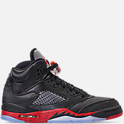 Big Kids Air Jordan Retro 5 Basketball Shoes